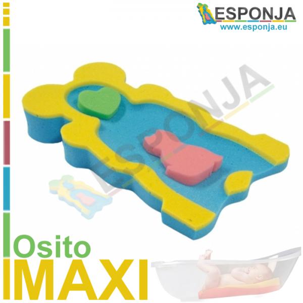 Esponja Almhoadilla de Baño para Bebes tipo osito - Modelo MAXI