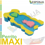 Esponja almhoadilla de baño para bebes tipo perrito - Modelo MAXI