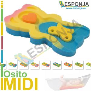 Esponja Almhoadilla de Baño para Bebes tipo osito – Modelo MIDI